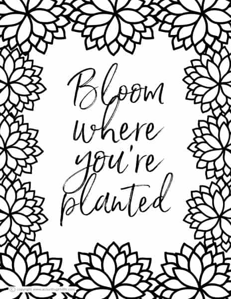 """Free Printable Adult Coloring Pages- """"Simple Floral ..."""